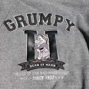 Disney Tops - Authentic Disney Grumpy sports leather jacket